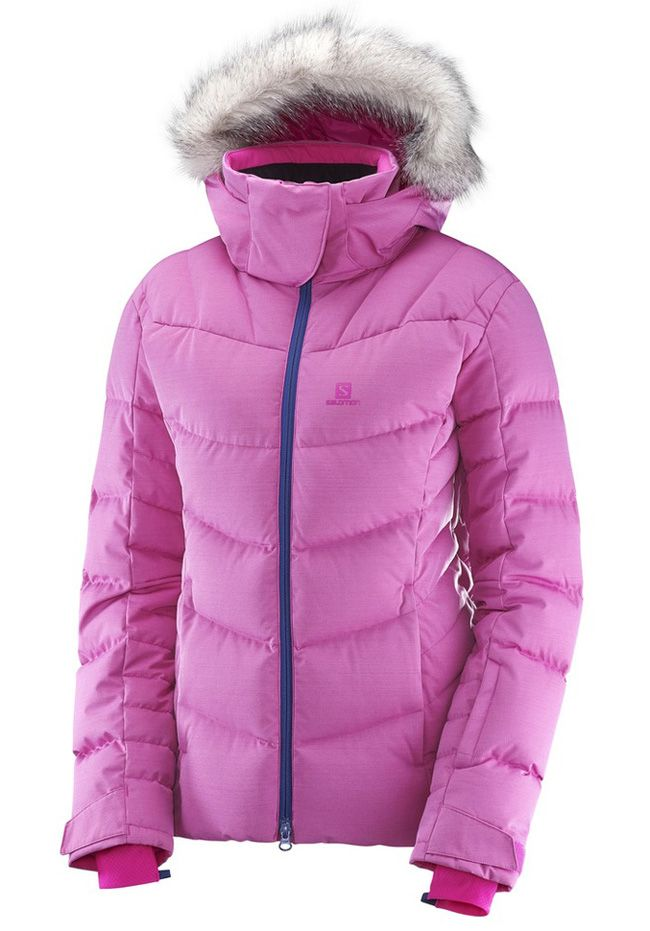 518635ce97 Salomon Icetown Ladies Ski Jacket Rose Violet Heather